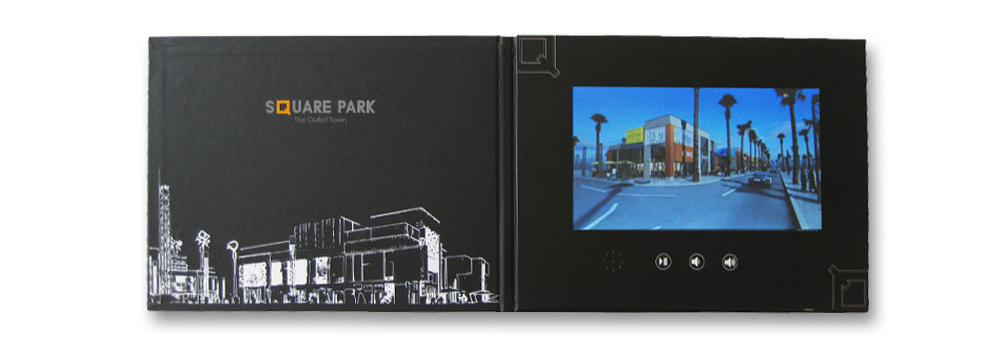 A4 videobrochure with a 10.1 inch screen