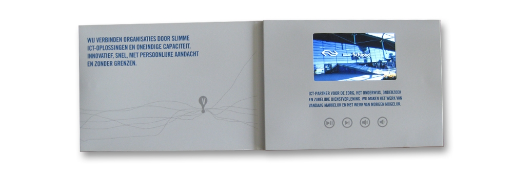 "Video brochure - A5 size with a 4.3"" LCD screen"