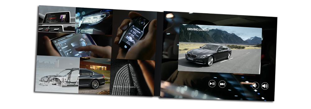 Video brochure - A5 size with a 7inch LCD screen