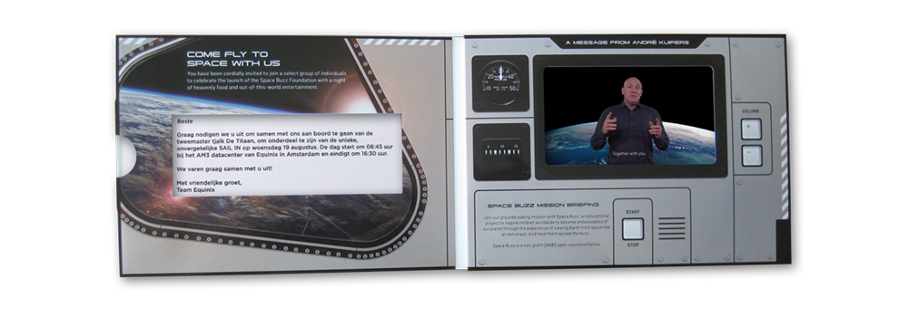 "Video brochure - A5 size with a 5"" LCD screen"